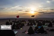تصاویر | به یاد صحرای کربلا؛ عزاداری در کویر خوریان