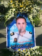 تصاویر | مراسم تشییع پیکر رئیس پلیس راهور شهرستان کهگیلویه