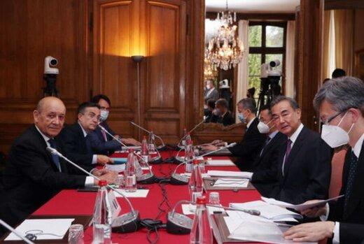 تاکید بر حفظ برجام در دیدار وزیران خارجه چین و فرانسه