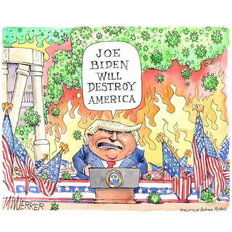 اینم نگرانی ترامپ از نابودی آمریکا با روی کار اومدن بایدن!