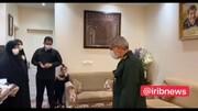 حضور بدون تشریفات سردار قاآنی در منزل یار همیشگی سردار سلیمانی+عکس