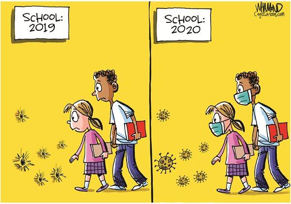 اینم وضعیت عجیب مدارس آمریکا از پارسال تا امسال!