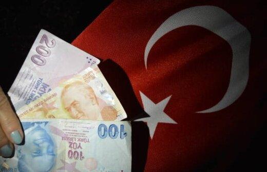 لیر ترکیه ریخت
