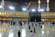 ببینید | رعد و برق و باران شدید در مسجدالحرام