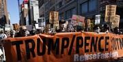 آغاز تظاهرات«60روز تا انتخابات»، برای برکناری ترامپ و پنس/عکس