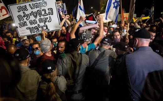 هزاران نفر علیه نتانیاهو در قدس و تلآویو به خیابانها آمدند/عکس