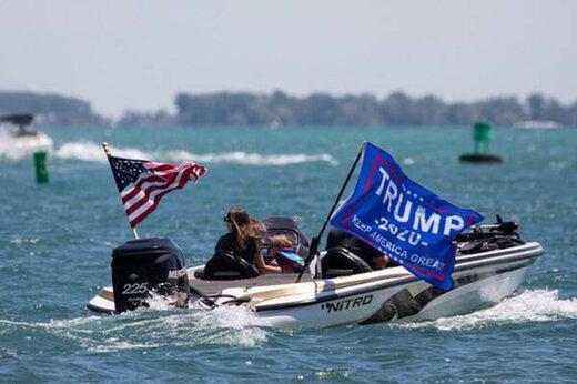 ببینید | حامیان ترامپ در دریاچه غرق شدند