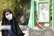 تصاویر | غبار روبی و عطر افشانی مزار شهدای قیام هفدهم شهریور