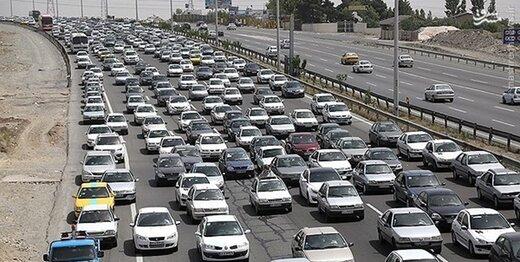 ترافیک سنگین در چالوس و آزادراه کرج_ تهران