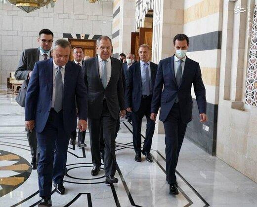 لاوروف با بشار اسد در دمشق دیدار کرد