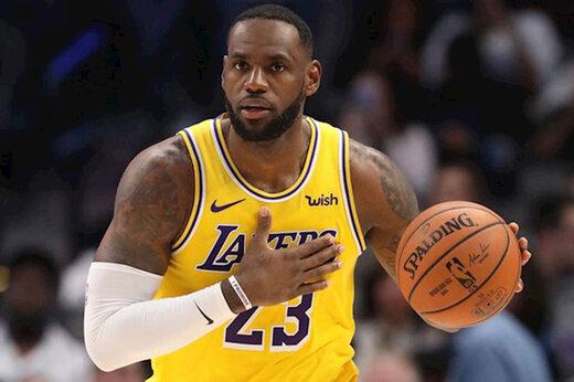 رکورد شکنی دوباره پادشاه در NBA
