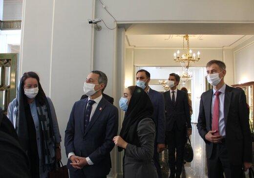 وزیر امور خارجه سوییس در کاخ نیاوران/ عکس