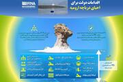 اینفوگرافیک | اقدامات دولت برای احیای دریاچه ارومیه چه بوده؟