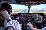 ببینید | لحظه دیدنی فرود هواپیما از زاویه دید خلبان