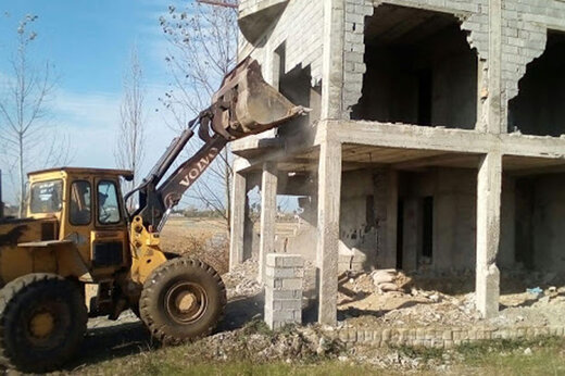 ببینید | تخریب 60 ویلای میلیاردی غیر مجاز در ملارد
