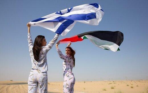 تبلیغ لباس خواب از سوی مدل معروف اسرائیلی در امارات/عکس