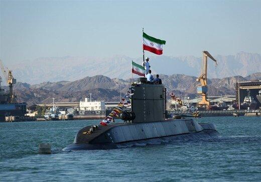 تصویری از اولین حضور زیردریایی ایرانی فاتح در رزمایش بزرگ ارتش