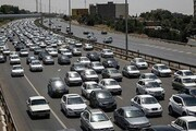 ترافیک سنگین در محدوده کرج- چالوس