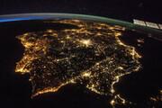 ببینید | زمین از دید فضانوردان در شب