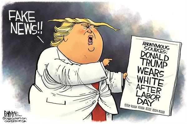 ترامپ: دروغه، من هیچ وقت کت سفید نمیپوشم!