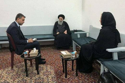 ببینید | دیدار آیتالله سیستانی با نماینده سازمان ملل