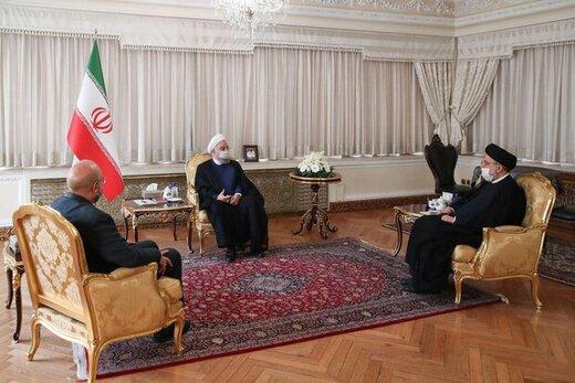تصویر میزبانی روحانی از قالیباف و رئیسی زیر سایه کرونا