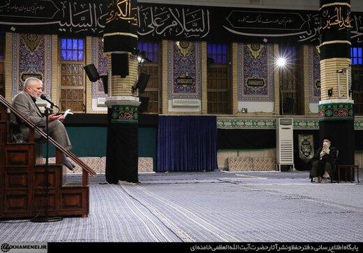 تصویری از مراسم عزاداری شهادت امام سجاد علیهالسلام در حسینیه امام خمینی