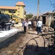 جزئیات آتش سوزی خودروی قیرپاش شهرداری یاسوج/ عکس