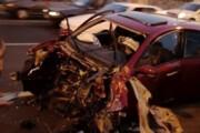 تصاویر   تصادف بسیار عجیب در تهران
