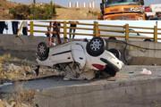 عکس | واژگونی پژو ۲۰۶ در آزادراه تهران _ پردیس با یک کشته