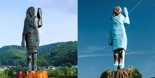 عکس | مجسمه جدید ملانیا ترامپ که نسوز است!