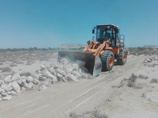 رفع تصرف اراضی ملی به ارزش بیش از ۵ میلیارد ریال در روستای دفاری