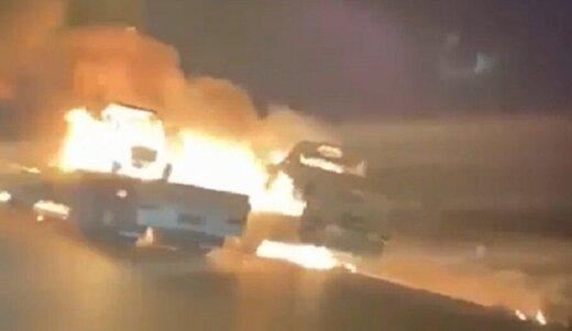 کاروان نظامی آمریکا هدف حمله قرار گرفت