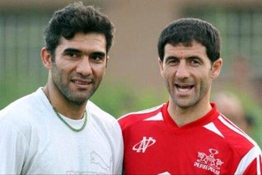 خوشحالی عابدزاده و کریم باقری بعد از صعود به جام جهانی/عکس