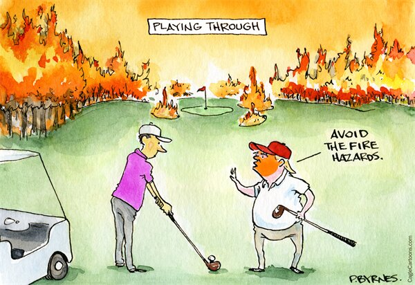 اینم ترامپ و آتش سوزی کالیفرنیا!