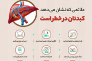 اینفوگرافیک | علائمی که نشان دهنده در خطر بودن کبد است