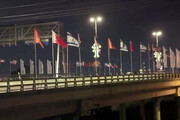 ببینید | تعویض پرچم بحرین با پرچم فلسطین توسط معترضان اسرائیلی