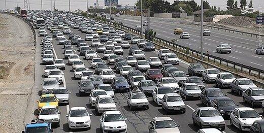 ترافیک سنگین در ورودی تهران