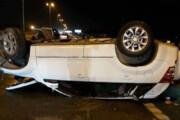 عکس | پشتک زدن خودرو سوزوکی در اتوبان تهران قم