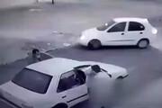 ببینید | زورگیری و سرقت خودرو مقابل چشم کودک