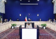 تصویری از روحانی، رئیسی و قالیباف در جلسه شورای عالی هماهنگی اقتصادی