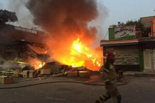 ببینید | آتشسوزی وحشتناک در جایگاه سوخت