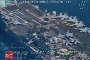 ببینید | تصاویری از رهگیری ناو هواپیمابر نیمیتز توسط پهپادهای بومی نیروی دریایی سپاه