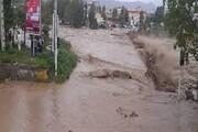 توزیع اقلام اساسی بین سیلزدگان تالش؛ ریزش کوه بسیاری از راههای منطقه را مسدود کرده است