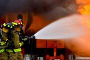 ببینید | آتش سوزی مهیب شرکت مواد شوینده در شهرک صنعتی اشتهارد کرج