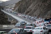 ترافیک سنگین و نیمه سنگین در مقاطعی از چالوس، هراز و فیروزکوه