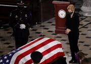 حضور چهرههای سیاسی آمریکا در مراسم تشییع رئیس دیوان عالی آمریکا/عکس