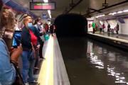 ببینید | متروی مادرید زیر آب رفت