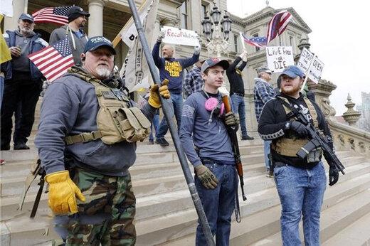 ببینید | آمریکا در آستانه جنگ داخلی؟