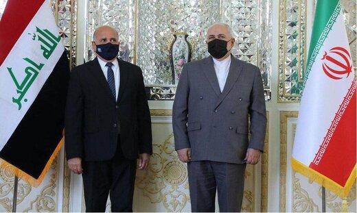 وزير الخارجية العراقي يلتقي ظريف بطهران